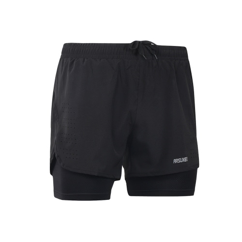 Buy Arsuxeo Men's 2-in-1 Running Shorts Quick Drying Breathable Active Training Exercise Jogging Cycling Longer Liner