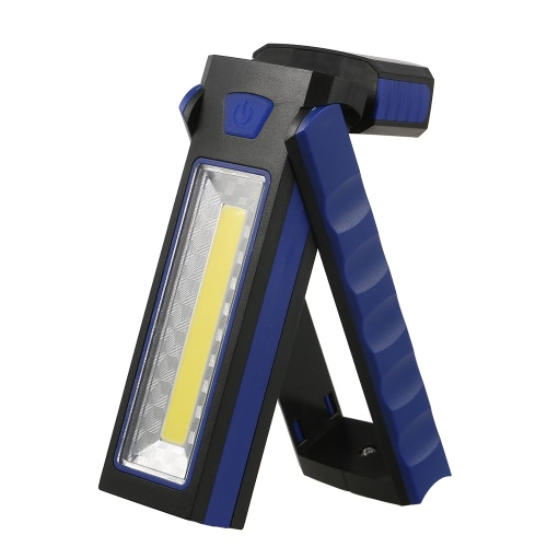 Buy Portable Pocket LED Flashlight Magnetic Work Light 180 Degree Stand Hanging Torch Lamp
