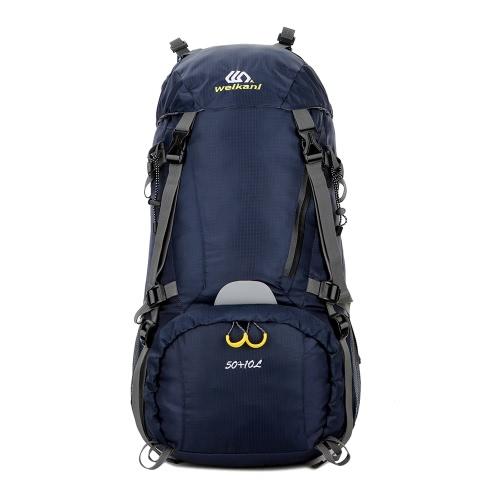 Buy 50+10L Waterproof Outdoor Sport Hiking Trekking Camping Travel Backpack Pack Mountaineering Climbing Knapsack Rain Cover