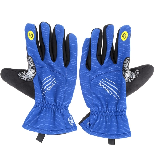Spakct Winter Full Finger Cycling Gloves Thermal Fleece Gloves Windproof