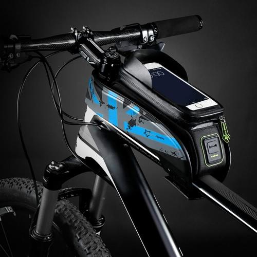 Buy ROCKBROS Water-resistant Cycling Bicycle Bike Top Front Tube Frame Bag Water Resistant Touchscreen Phone Holder Case 5.8u201d/6.0u201d Smartphone