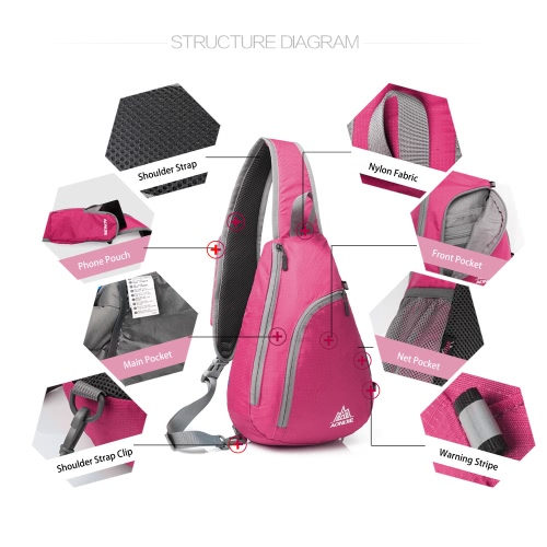 AONIJIE Packable Shoulder Backpack Sling Chest CrossBody Bag Cover Pack Rucksack for Bicycle Sport Hiking Travel Camping Bookbag Men Women