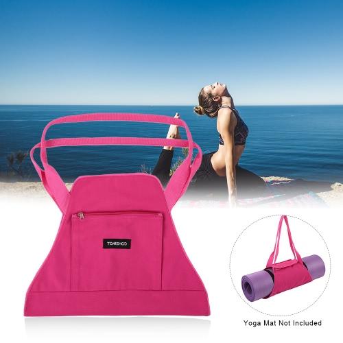 Buy TOMSHOO Yoga Mat Carrier Exercise Bag Shoulder Gym Fitness Sports Workout Travel