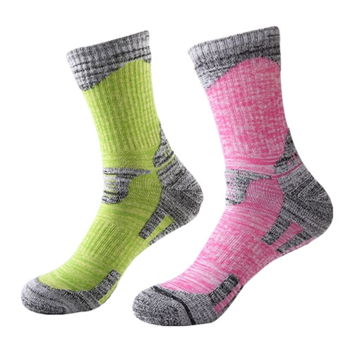 2 Pairs Breathable Wicking Wear Resistant Biking Mountain Climbing Skating Socks Compression Cotton Footbed Socks Cotton Socks