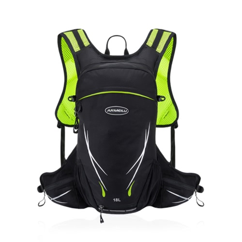 Buy 18L Water-resistant Breathable Cycling Bicycle Bike Shoulder Backpack Portable Outdoor Sports Riding Travel Mountaineering Hydration Water Bag Rain Cover