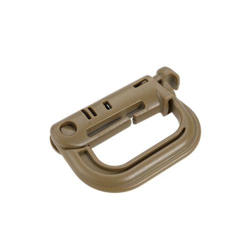 1Pcs Military Portable D Ring Clip Mountain Climbing Carabiner EDC Lightweight High Strength Outdoor Equipment Camping Tactical Backpack Shackle Keychain Locking Plastic Hook Buckle Webbing Multifunction thumbnail