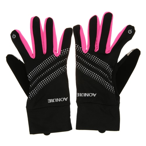 AONIJIE Outdoor Sports Men Women Gloves Warm Windproof Cycling Running Hiking Motorcycle Full Finger Touch Screen Gloves