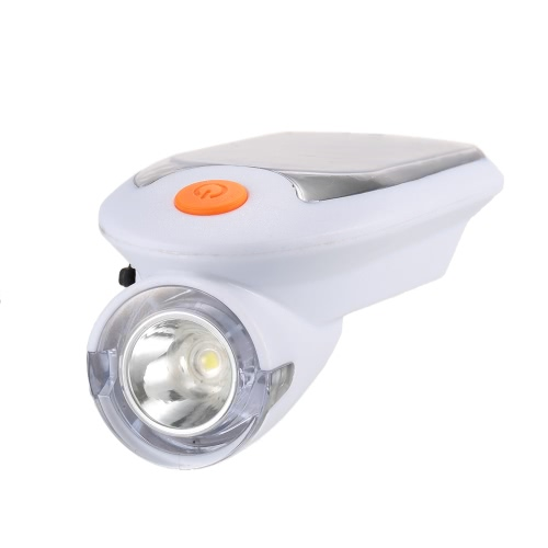 Buy USB Rechargeable Bicycle Headlight Solar Powered Light Bike Cycling Front Safety Lamp 360 Degree Rotating