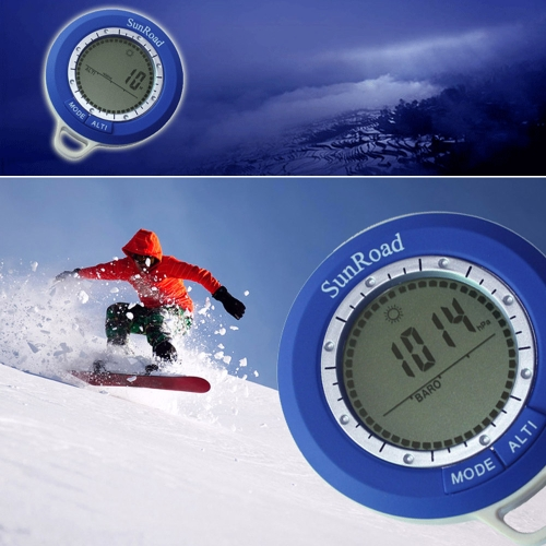 Buy Sunroad SR108N 8 1 Mini LCD Backlight Digital Altimeter Climb Rate Barometer Thermometer Compass Weather Forecast Time Outdoor Waterproof Multi-function Carabiner
