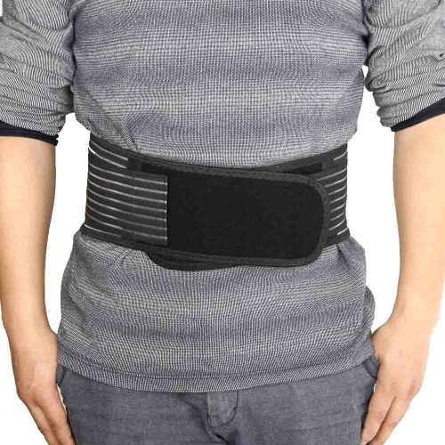 Buy Breathable Elastic Ajustable Velcro Waist Support Spontaneous Heating Magnetic Therapy Belt Brace Lumbar Back Protection