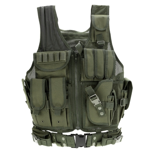 Buy Outdoor Military Tactical Army Polyester Airsoft War Game Hunting Vest Camping Hiking