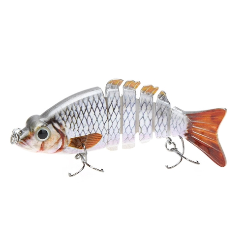 "Lixada 10cm / 4"" 21g Multi Jointed Fishing Hard Lure Bait Swimbait Life-like with Treble Hooks"