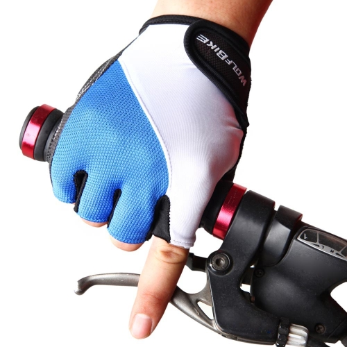 Buy WOLFBIKE Non-slip Shock-absorbing Silicone GEL Road MTB Motorcycle Cycling Bike Bicycle Racing Riding Breathable Half Finger Gloves