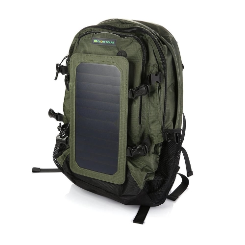 Buy 6.5W 35L Travel Hiking Cycling Solar Power Charge Backpack 2 Water Bottle Bags