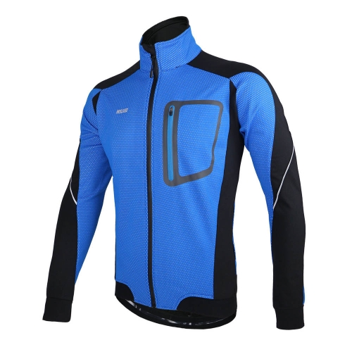 Buy ARSUXEO Winter Warm Thermal Cycling Long Sleeve Jacket Bicycle Clothing Windproof Jersey MTB Mountain Bike