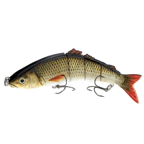 "8.5"" Life Like Hard Bait Multi Jointed Segmented Section Fishing Lure with Treble Hooks"