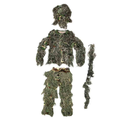 Buy Woodland Camouflage Ghillie Suit & Bag Hunting War Games
