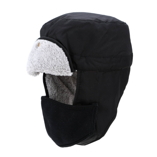 Winter Outdoor Velveteen Thermal Hat Ear Flaps Thermal Padded Warm Hat Windproof Hat Skiing Hat Unisex