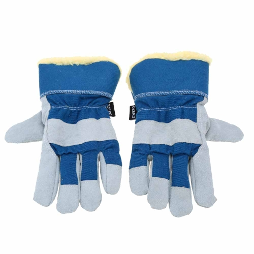 Outdoor Winter Thermal Working Leather Gloves (2PCS) for  Men/ Women