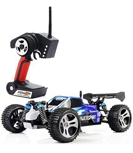 Wltoys A959 1-18 1:18 Scale 2.4G 4WD RTR Off-Road Buggy RC Car Blue