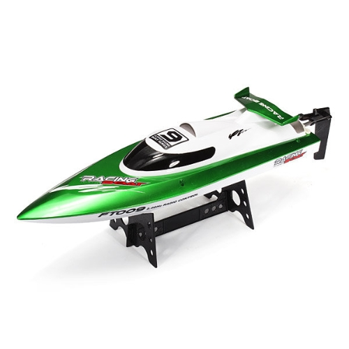 Original Feilun FT009 2.4G 30km/h High Speed RC Racing Boat with Water Cooling Self-righting System (Green)