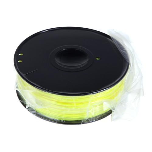 3D Printer Filament 1kg-2.2lb 3mm PLA Plastic for MakerBot RepRap Mendel Yellow
