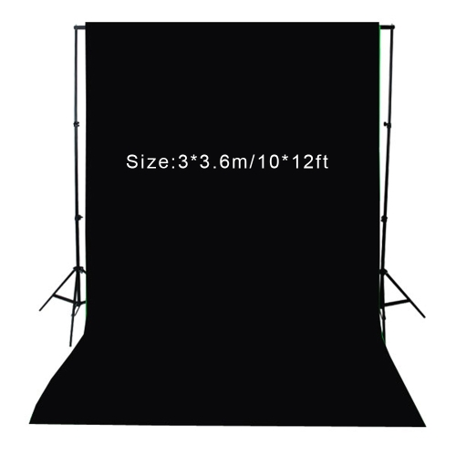 Buy 3 * 3.6m / 10 12ft Photography Screen Backdrop Muslin Cotton Video Photo Lighting Studio Background Black