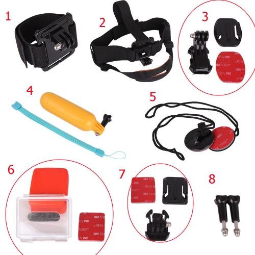 Buy Andoer 8 1 Accessories Set Curved Base J-hook Mount Head Strap Folating Hand Grip Wrist Band 3M Sticker Ski Surf Gopro Hero 3+