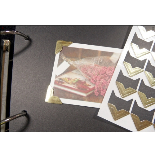 Buy 5 Sheet DIY Photo Album Scrapbook Corner Sticker PVC 24pcs/sheet Classical