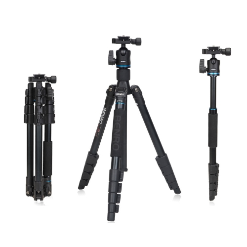 Buy Benro IT15 Portable Aluminum Alloy Travel Tripod Kit Ball Head Monopod Canon Nikon Pentax Camera & DV