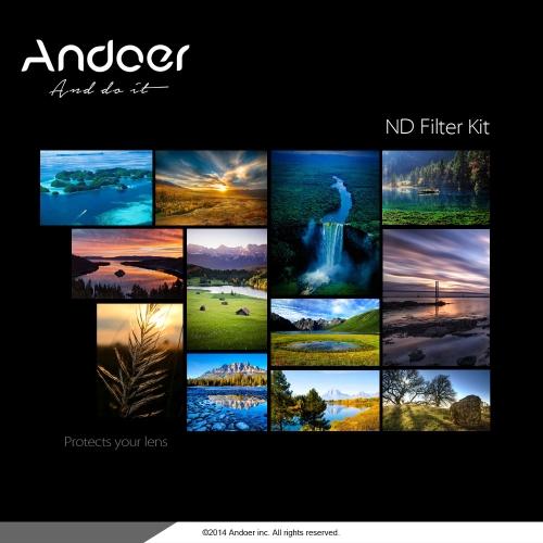 Buy Andoer 58mm Fader ND Filter Kit Neutral Density Photography Set (ND2 ND4 ND8) Nikon Canon Rebel T5i T4i EOS 1100D 650D 600D DSLRs