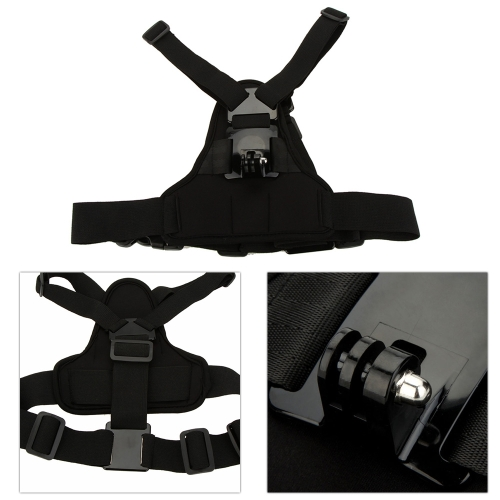 Andoer Adjustable Elastic Body Harness Chest Strap Mount Band Belt Accessory for Sport Camera GoPro Hero 4/3+/3/2/1 SJCAM от Tomtop.com INT