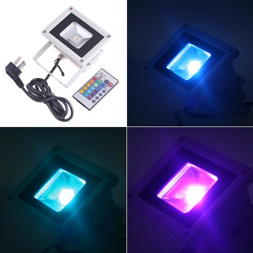 RGB LED Flood Light with Remote Control от Tomtop.com INT