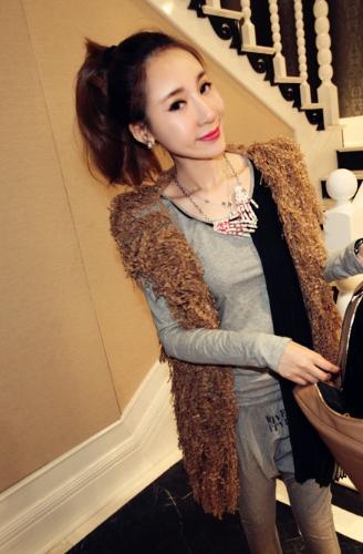Buy Women Hollow Tassels Vest Knitted Sweater