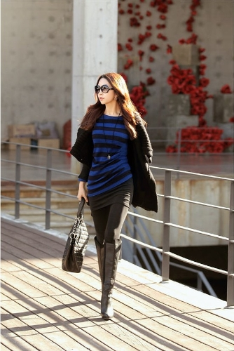 Fashion Women Cardigan Shawl Collar Solid Long Shrug Sweater OL Loose Coat Knitwear Black