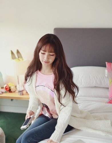 Korean Fashion Women Cardigan Pockets Long Loose Knitting Sweater Outerwear White