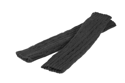 Fashion Winter Men Women Gloves Mitten Warm Knitted Fingerless Arm Long Unisex