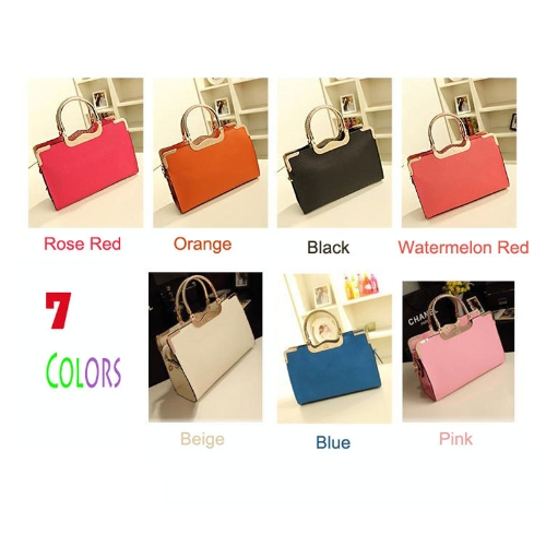 Buy Lady Candy Color PU Leather Shoulder Messenger Crossbody Tote Bag Handbag Watermelon Red