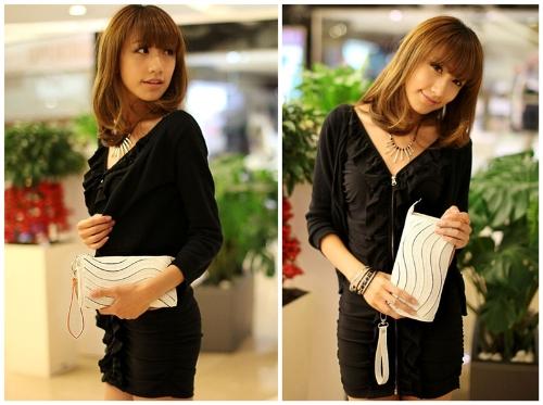 Buy Fashion Women Clutch Bag PU Leather Handbag Candy Color Purse Wallet Small Shoulder Messenger Black