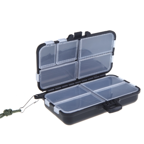 Fishing Tackle Box Fly Fishing Box Spinner Bait Minnow Popper 9 Compartments