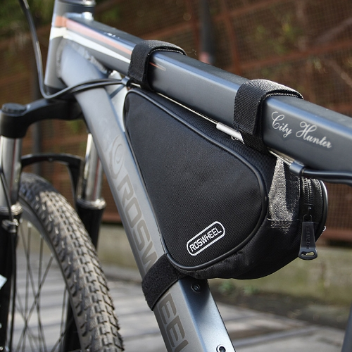 Buy Roswheel Triangle Cycling Bicycle Front Tube Frame Bag Outdoor Mountain Bike Pouch 1.5L Black 12657