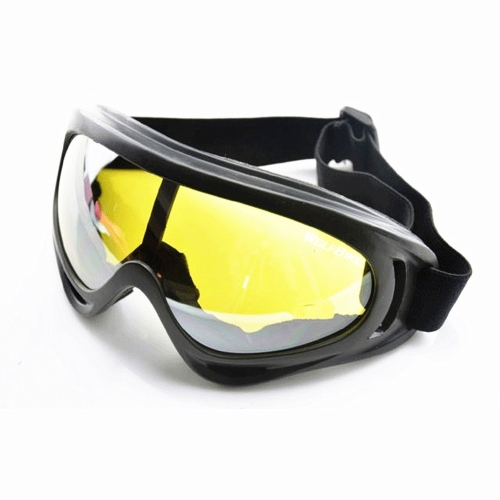 Image For UV400 Sunglasses Safety Eyewear Goggle for Skating Skiing Bicycle Riding Open-air Activities Yellow Lens
