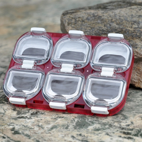 Mini Waterproof Fishing Tackle Box Fishing Hook Storage Case with Magnet 6 Compartments Red от Tomtop.com INT