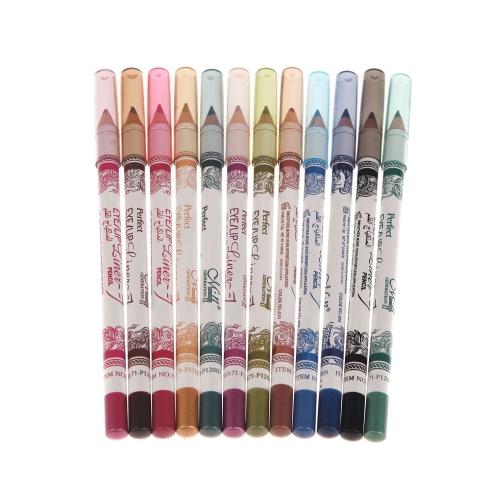 Buy M.n Makeup 12 Colors 3 1 Eyeliner+Lipliner+Eyebrow Pencil Waterproof Cosmetic Tool Eye Eyebrow Lip