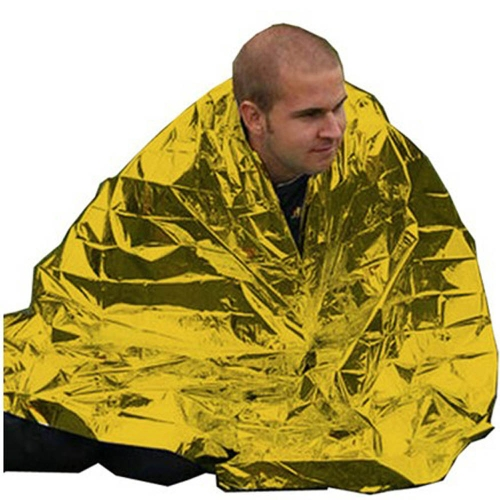 Buy 210*130CM Emergency Blanket Survival Rescue Insulation Curtain Outdoor Life-saving Military Gold