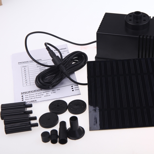 Buy Solar Panel Power Brushless Pump 9V Pond Rockery Fountain Pool Water Cycle Garden Plants Watering