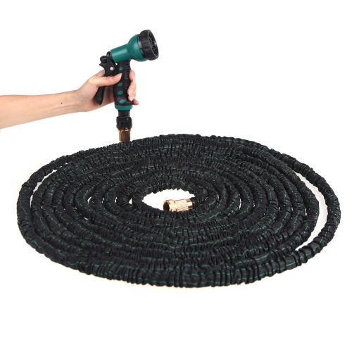 Buy 100FT Ultralight Flexible 3X Expandable Garden Magic Latex Water Hose Pipe + Multifunctional Spray Nozzle Valve