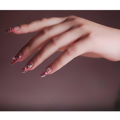 Buy 4812 Shapes&Colors 3D Nail Art Tips Gems Crystal Glitter Rhinestone DIY Decoration + Wheel