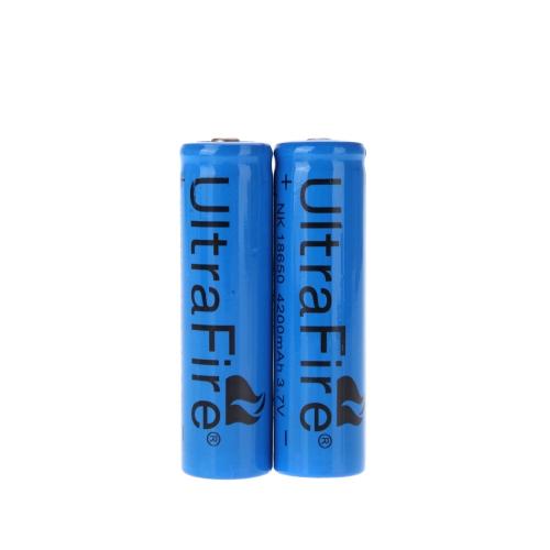 Buy UltraFire 2*18650 3.7V Rechargeable Li-ion Battery 4200mAh LED Flashlight Torch Light