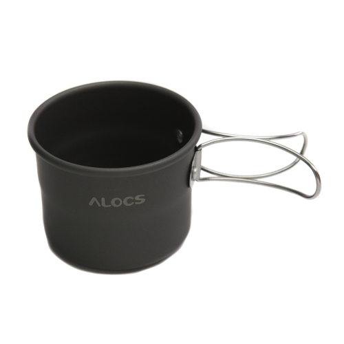 ALOCS TW-402 Portable Aluminum Oxide Outdoor Camping Cup Foldable Handles 150ml